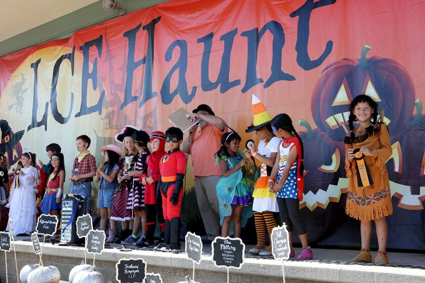 Costume contest, La Cañada Elementary annual Halloween Haunt
