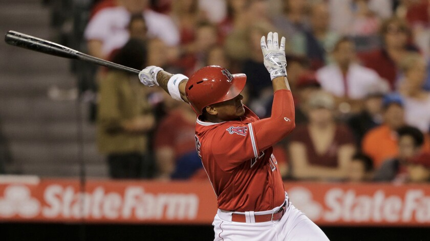 Jefry Marte plays catch-up in the outfield, where Angels need him because of injuries
