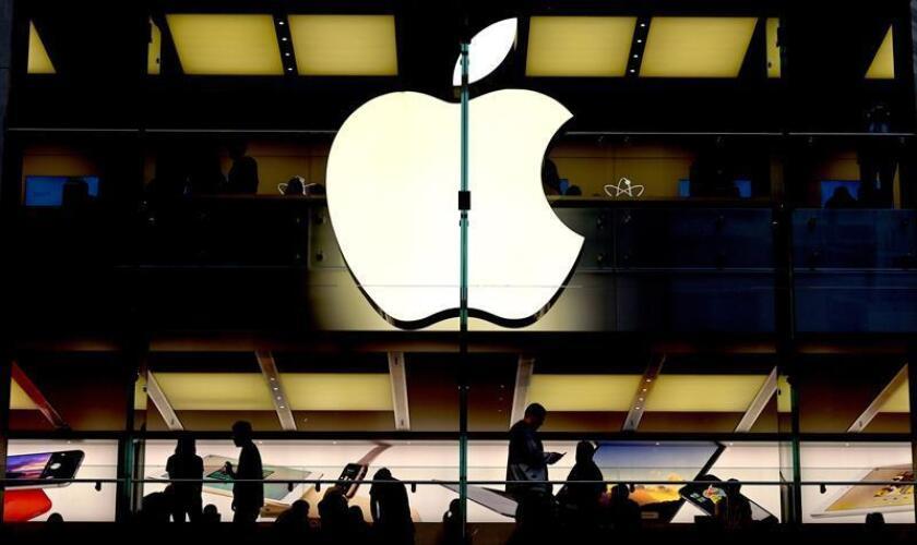 Fotografía que muestra el logotipo de Apple. EFE/Archivo