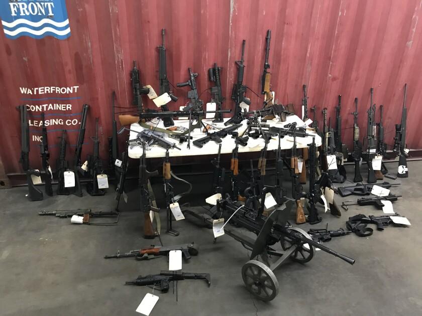 Guns found in Wei Xu's home