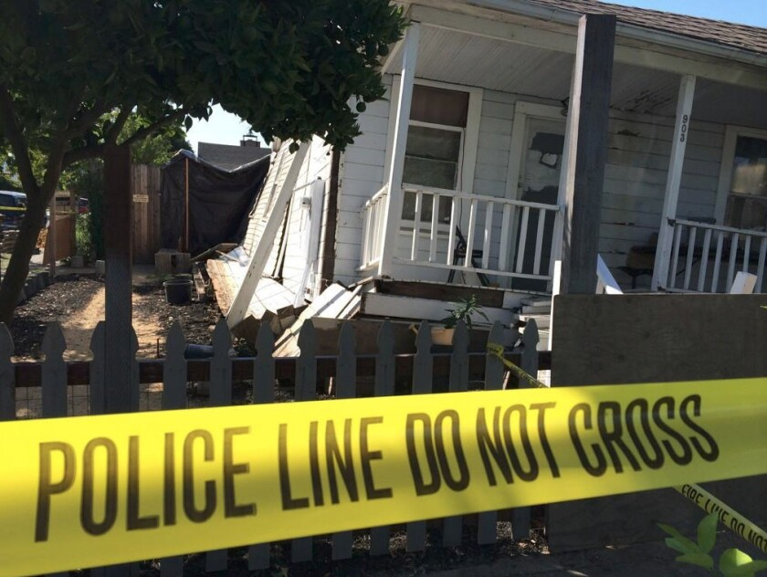 A home in Napa after suffering earthquake damage.