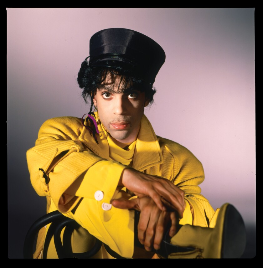 Prince wearing an all-yellow outfit