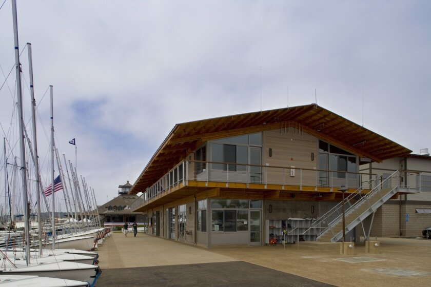 The Malin Burnham Sailing Center at the San Diego Yacht Club includes space for the club's junior sailing program.