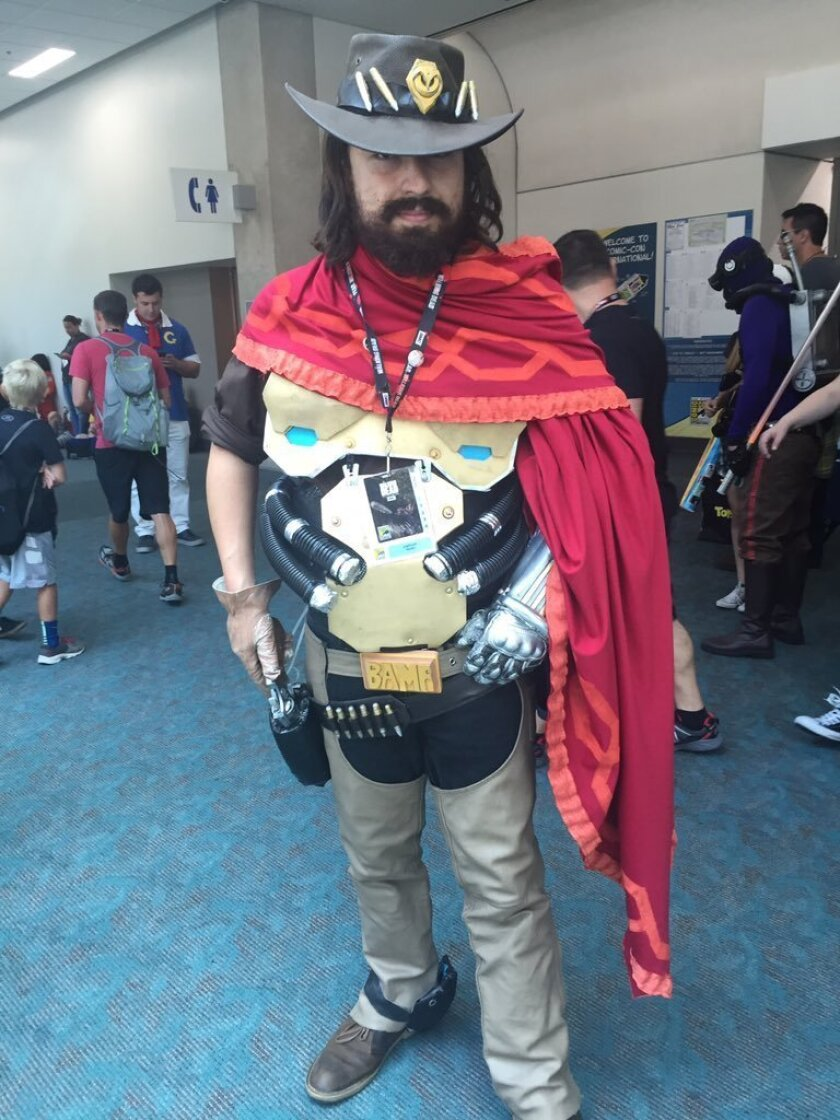 Comic-Con cosplayer Josh Nadin, 24, of Simi Valley is a mashup of Steampunk and Silas Greaves of the first-person shooter game Call of Juarez.