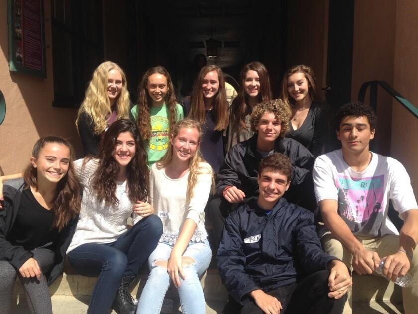 Members of CCA's Teen Giving Club.