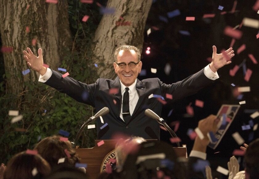 "Bryan Cranston portrays President Lyndon B. Johnson in ""All the Way,"" premiering Saturday at 8 p.m. on HBO."