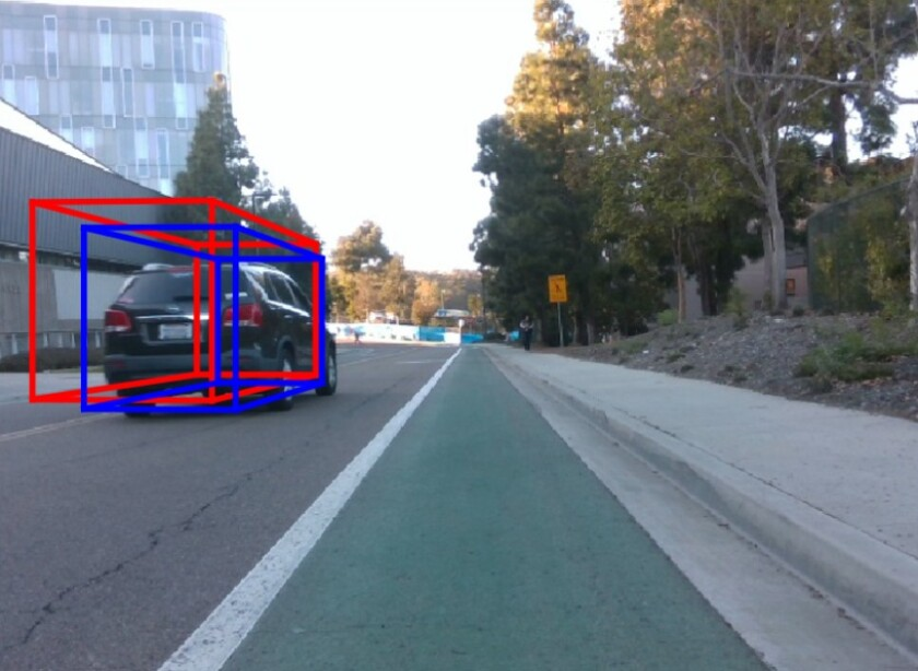UCSD's multi-radar system is intended to help self-driving cars determine the dimensions of other vehicles in traffic.