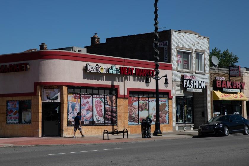 Storefronts along Warren Avenue in Dearborn.