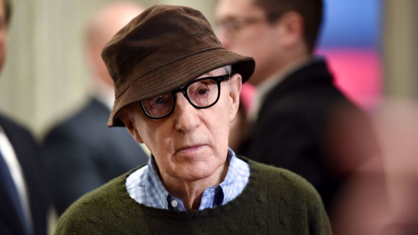 """Director Woody Allen attends a special screening of """"Wonder Wheel,"""" hosted by Amazon Studios, at the Museum of Modern Art in November 2017 in New York."""