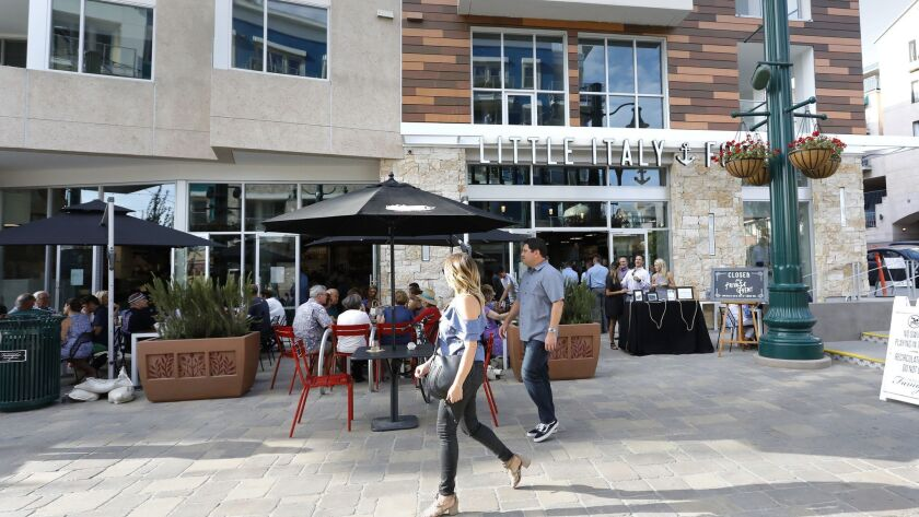 San Diego, CA_7/9/2018_The Little Italy Food Hall, held a soft opening on Monday in the Piazza Della