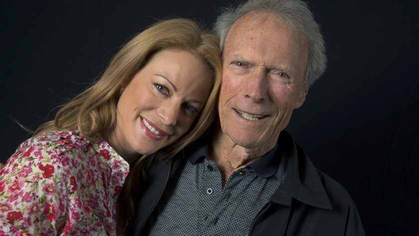 Clint Eastwood with his daughter Alison Eastwood.