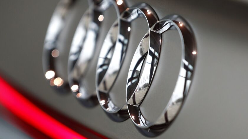 The logo of German automaker Audi.