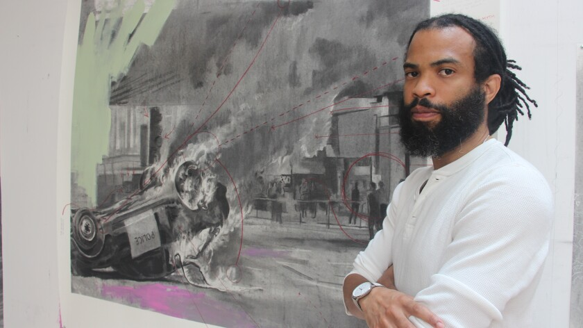 Artist Cosmo Whyte is in residence at Lux Art Institute and on exhibit through Nov. 7.