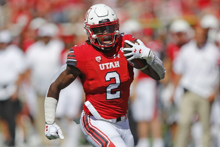 Utah running back Zack Moss is averaging nearly seven yards per carry this season.