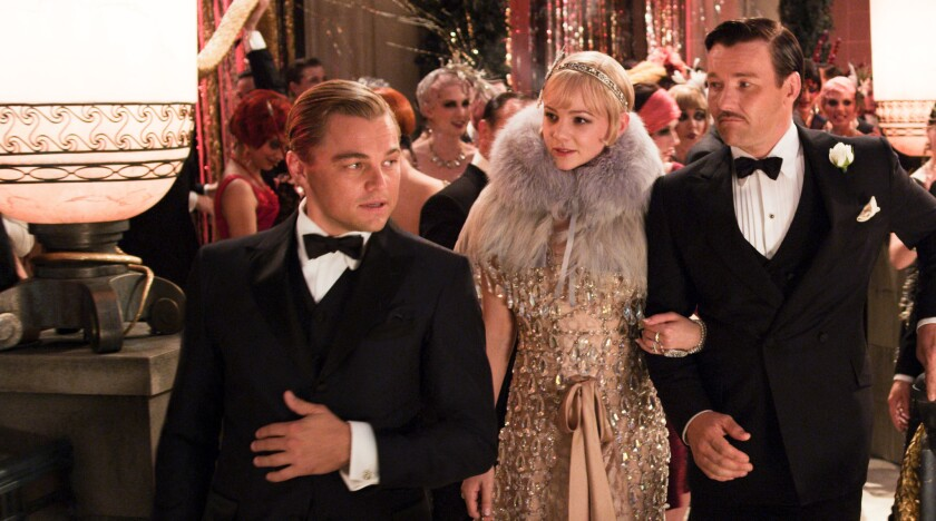 "Leonardo DiCaprio, Carey Mulligan and Joel Edgerton in Baz Luhrmann's ""The Great Gatsby."""