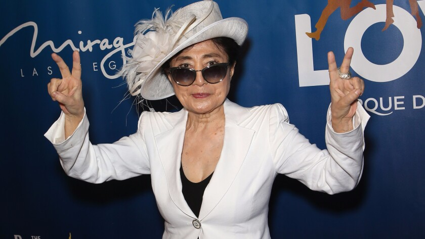 "Yoko Ono at the 10th anniversary celebration of ""Love."""