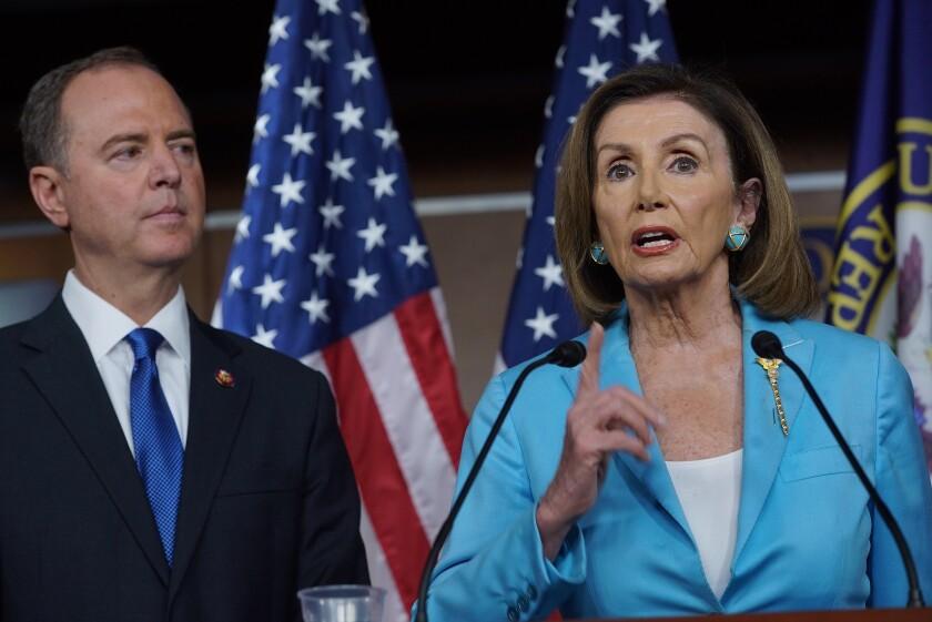 House Speaker Nancy Pelosi and Rep. Adam Schiff