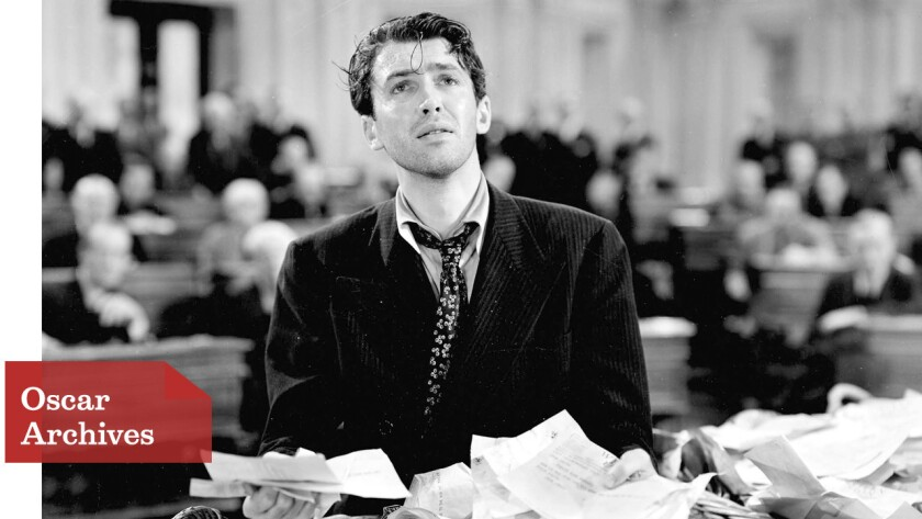 "1939 Oscar nominee James Stewart in ""Mr. Smith Goes to Washington"""