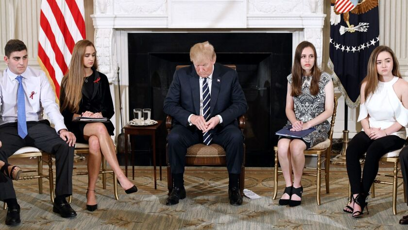 President Trump discusses school safety with those impacted by Parkland, Newtown, Columbine shootings - DC