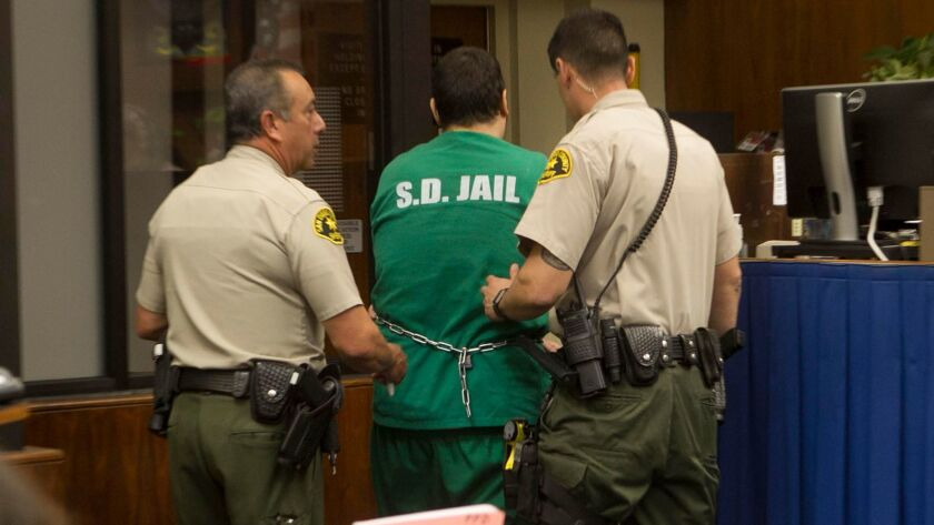 Jon David Guerrero was arraigned on April 4, 2017, on charges linked to a series of attacks on homeless people and others in San Diego last summer. Four people were killed in the attacks.