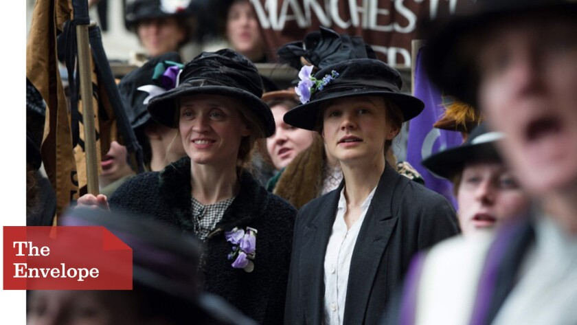 "Anne-Marie Duff, left, and Carey Mulligan in ""Suffragette."""