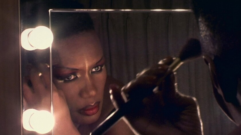 "Grace Jones in the documentary ""Grace Jones: Bloodlight and Bami."""