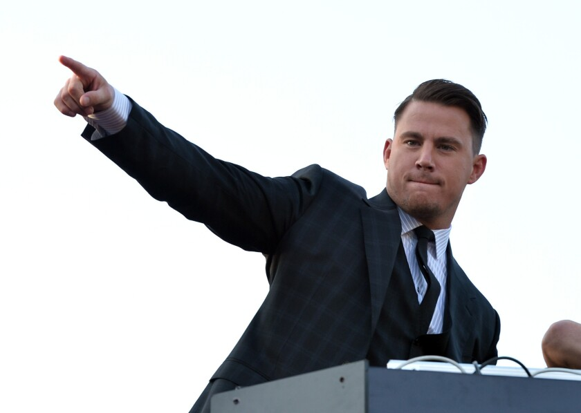 """Actor Channing Tatum, shown last week at the premiere of """"22 Jump Street,"""" is heading to NBC in a new action-adventure reality series, """"Running Wild with Bear Grylls."""""""