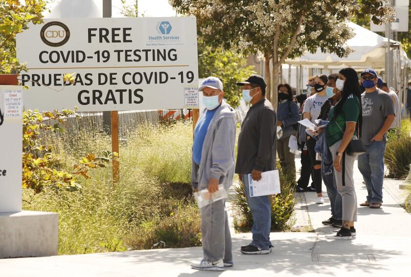Walk-ins wait for testing in LA County