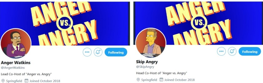 "Anger Waktins and Skip Angry are the hosts of ""Anger vs. Angry"" on ""The Simpsons,"" but could the real life Stephen A. Smith and Skip Bayless reunite?"