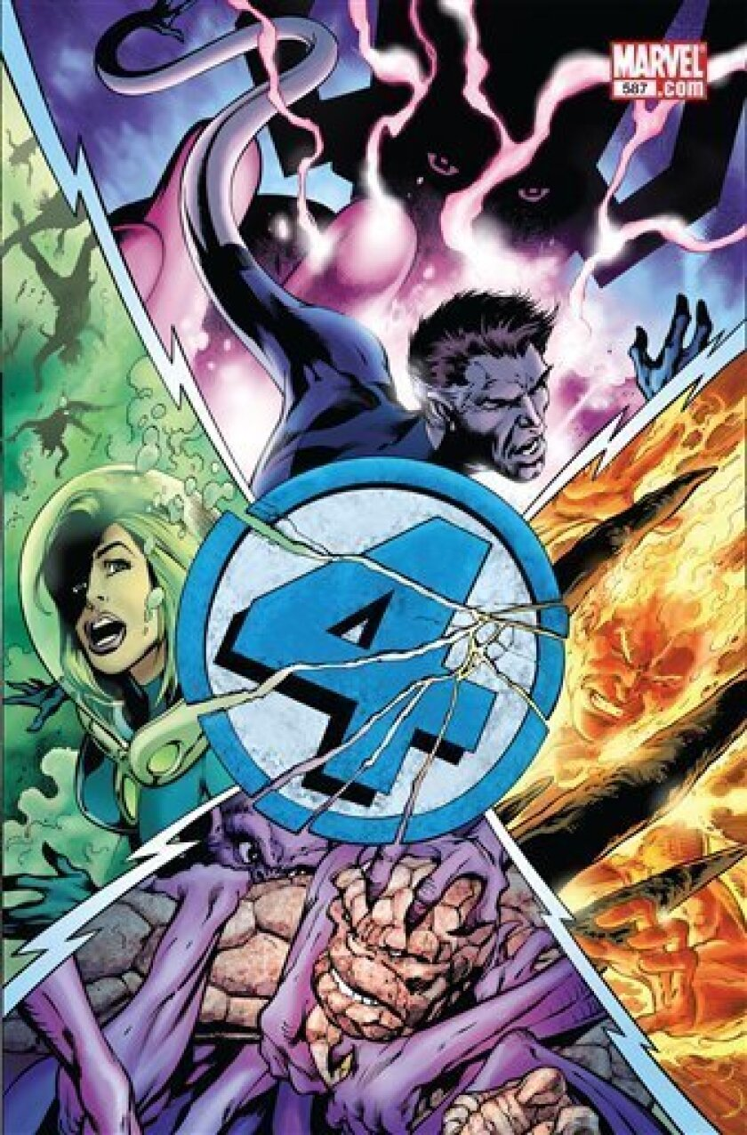 In this comic book image released by Marvel Entertainment, issue No. 587 of the Fantastic Four are shown.  Marvel Entertainment has extinguished the Human Torch's flame and his life, too, as the pop culture purveyor of super heroes and villains embarks on an ambitious story line that ends the Fanta