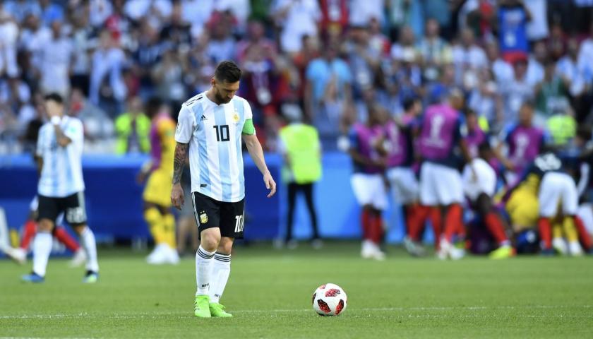 Lionel Messi, imagen de la derrota argentina...