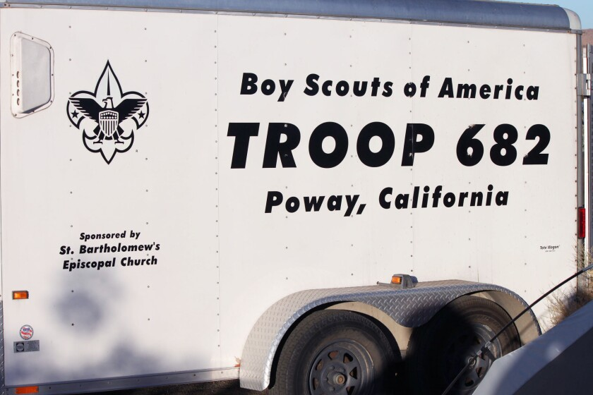 Scouts BSA Troop 682's trailer, which was broken into earlier this month.