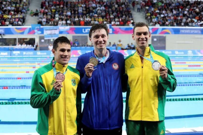 El estadounidense Abruzzo gana el oro seguido por brasileños en los 400m libre