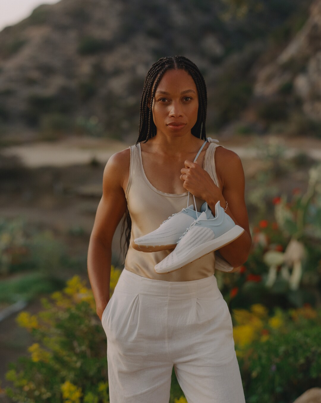 Allyson Felix with Saysh shoes