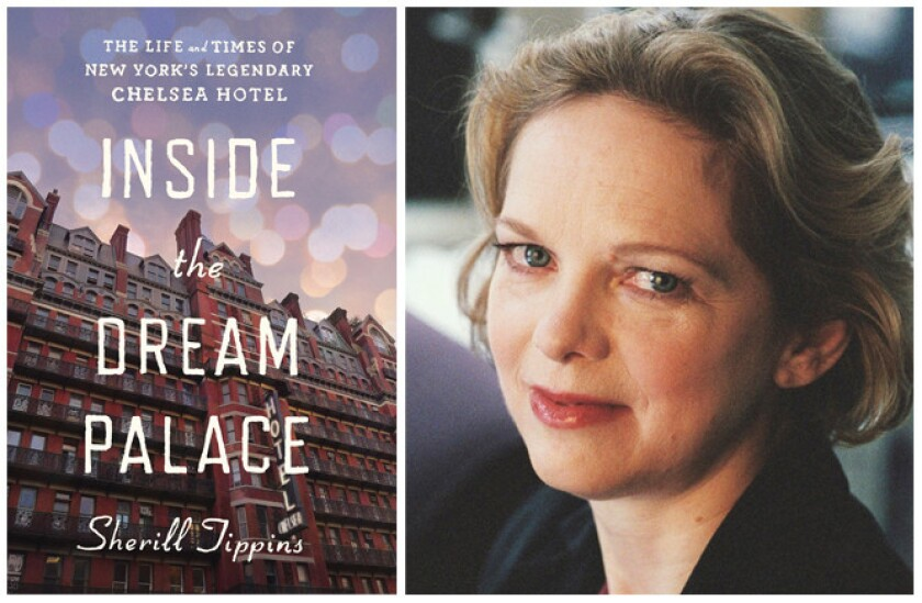 "The cover of ""Inside the Dream Palace"" and author Sherill Tippins."