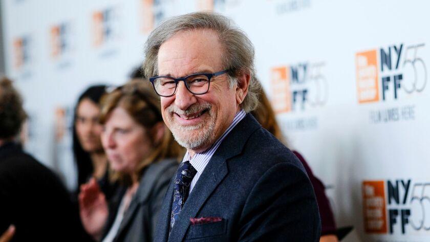"Filmmaker Steven Spielberg attends the world premiere of ""Spielberg"" at the 55th New York Film Festival on Thursday."