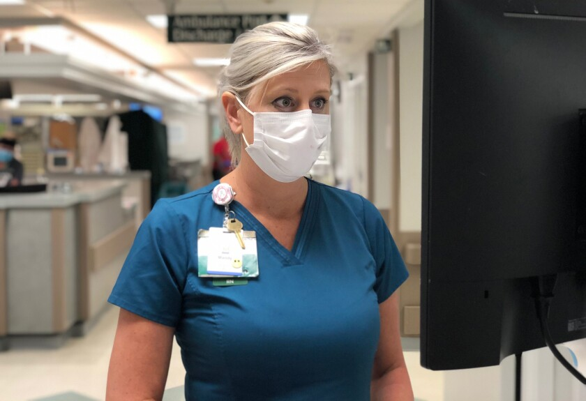 Mandy Hall is a front-line nurse at Phoebe Putney Memorial Hospital in Albany, Georgia.