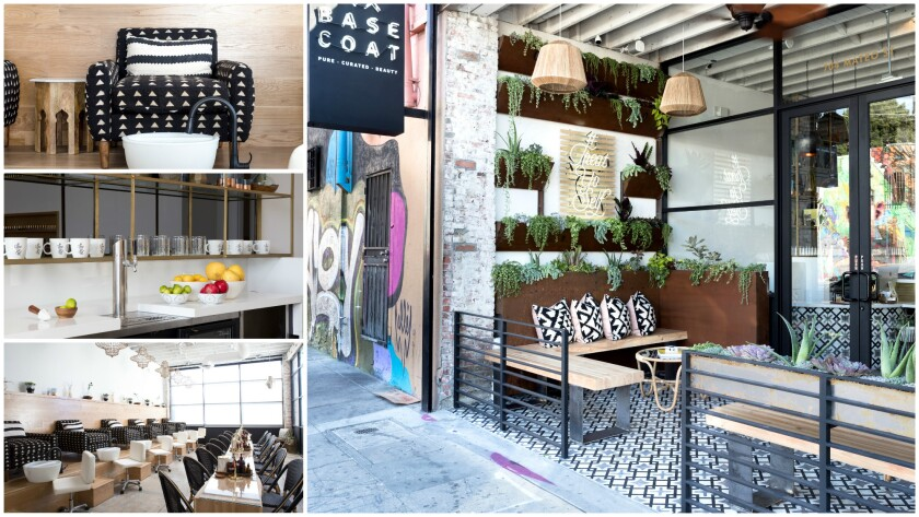 A closer look at the interior and exterior of Base Coat in downtown L.A.