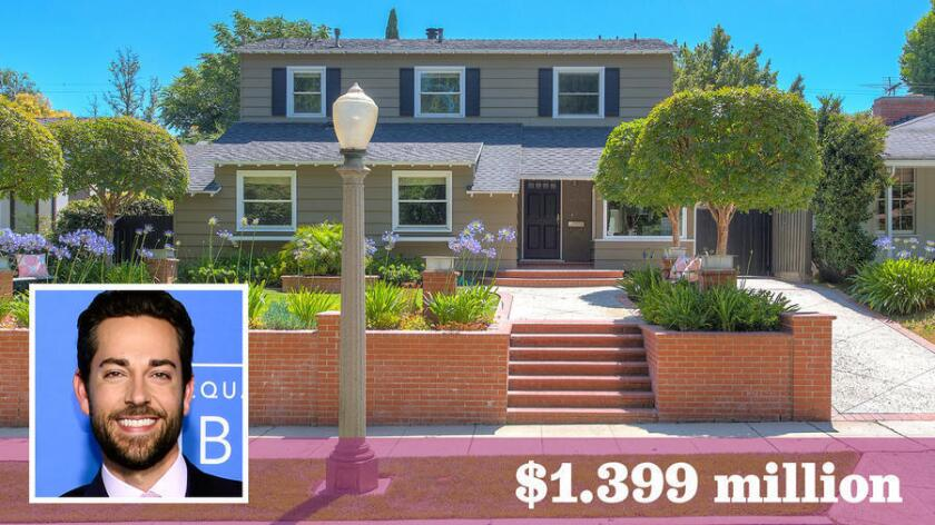 Actor Zachary Levi has listed his home in Studio City for sale at $1.399 million.