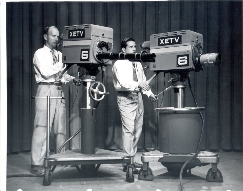 Cameras at the XETV Channel 6 studios, circa the late 1950s.