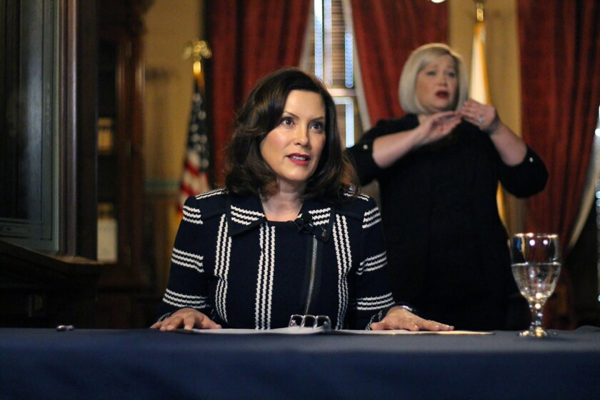 Michigan Gov. Gretchen Whitmer has drawn national attention tangling with President Trump during the coronavirus crisis.