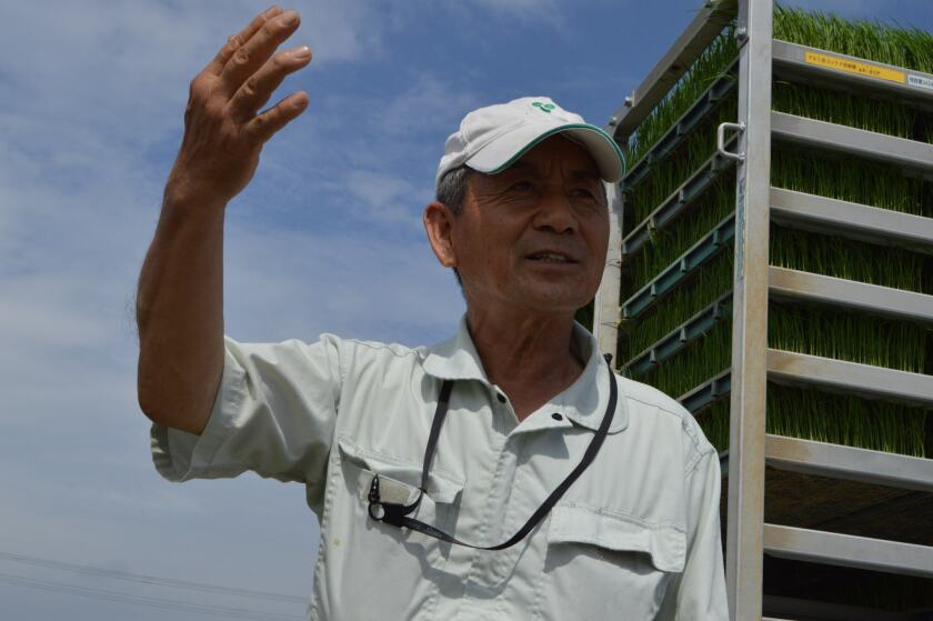Takao Terada, a rice farmer in Kakegawa, Japan.