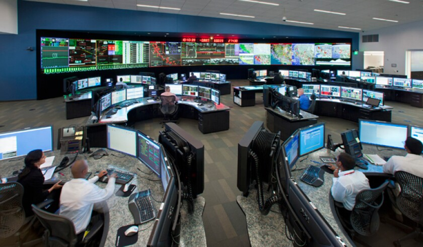 The control room of the California Independent System Operator.