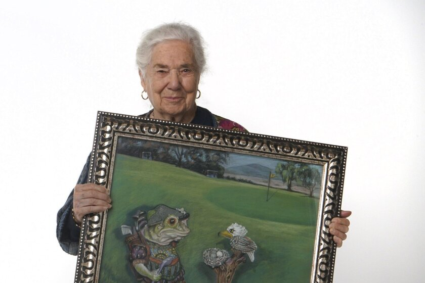 Artist Phebe Burnham, 95, joined the Foothills Art Association in 1953 and is being honored for the month of May as its featured artist.