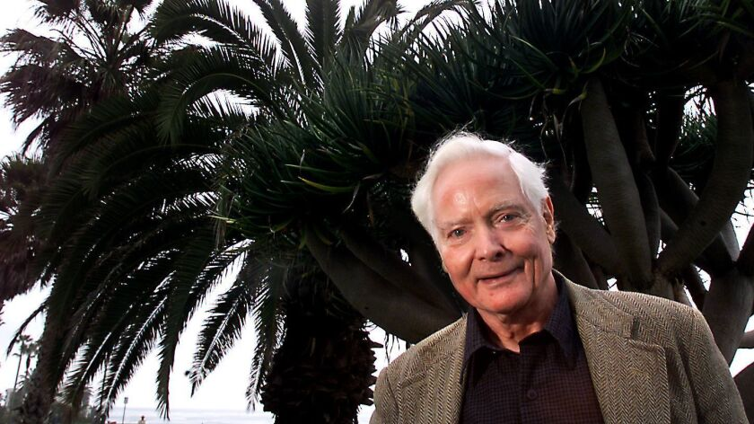 Award-winning poet W.S. Merwin, pictured here in 2001, died Friday at age 91.