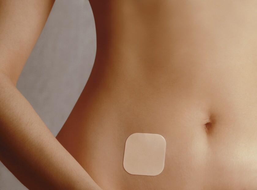 Should a boss who objects to contraception on religious grounds be allowed to deny insurance for birth control to female employees, even though Obamacare requires such coverage? Shown here, a contraceptive patch by Ortho-McNeil Pharmaceutical Inc.