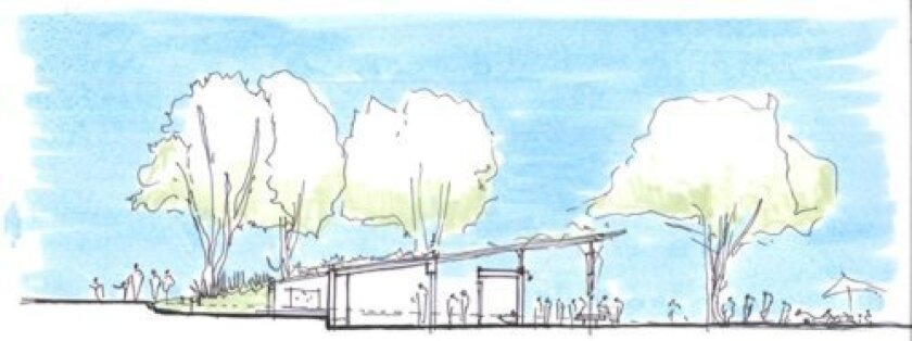An example of Safdie Rabines Architects' preliminary designs for a new Scripps Park restroom pavilion