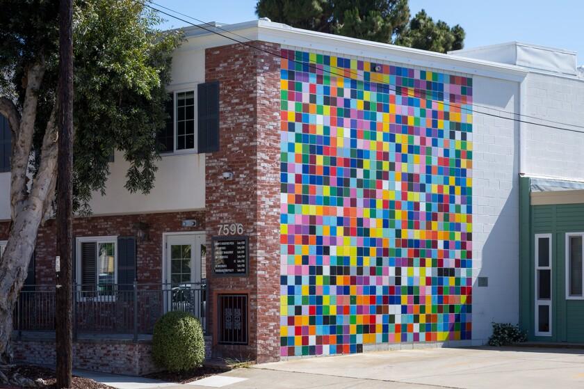 "Murals of La Jolla: Roy McMakin's ""Favorite Color."""