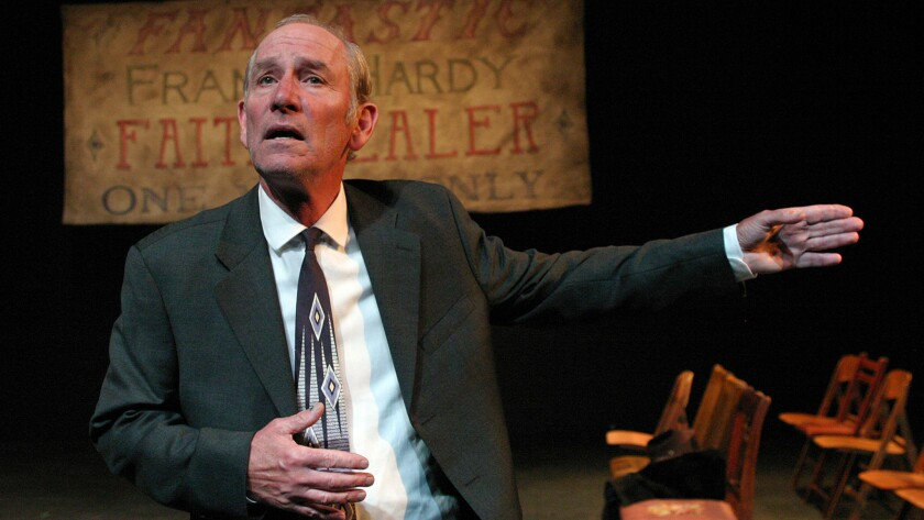 """Paul Norwood in """"Faith Healter"""" at Odyssey Theatre."""