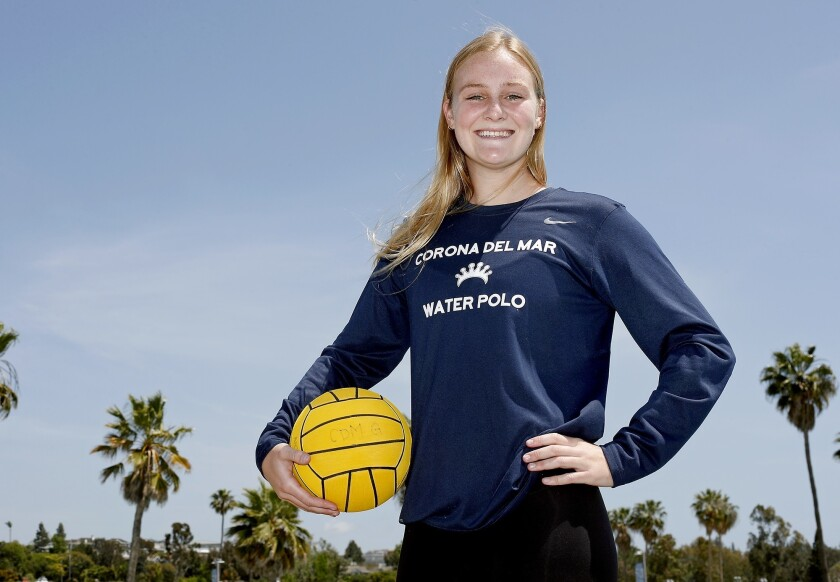 Corona del Mar High senior Sophie Wallace is the Daily Pilot Dream Team Girls' Water Polo Player of